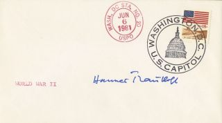 Hannes Trautloft German WWII Ace Authentic Autographed Cover