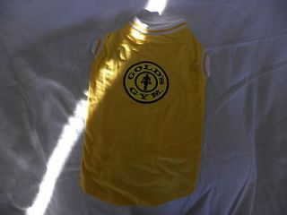 dog clothing apparel golds gym tank yellow medium new time