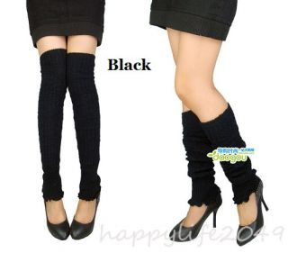 Ladies Pair Knee High Leg Socks Winter Long Legging Women Girls