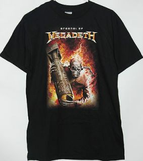 Megadeth Arsenal of Megadeth black T Shirt tee New with Tags