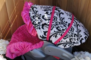 Graco SnugRide Infant Car Seat Cover Damask Hot Pink