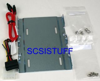 SSD Intel 2 5 to 3 5 Hard Drive Adapter Bracket Mount with SATA