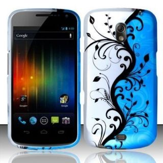 Nexus Rubberized Hard Protector Case Phone Cover Blue Vines