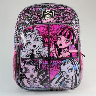 Monster High Graffiti 16 Large Backpack Book Bag Girls Frankie Stein