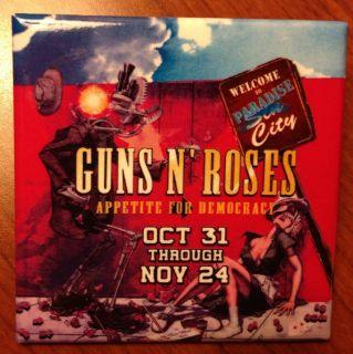 Hard Rock Promo Pin for Guns N Roses Appetite for Democracy Paradise