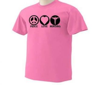 Peace Love Nursing Nurse T Shirt