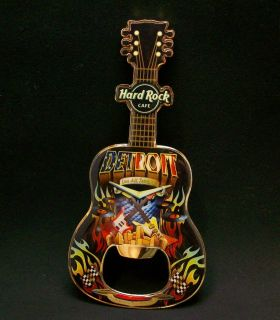 Hard Rock Cafe Detroit Guitar Bottle Opener Magnet RARE