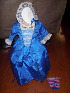 AMERICAN GIRL DOLL Felicity Christmas Gown Dress Pinner Cap Smoacher