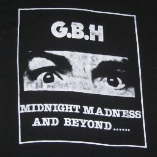CHARGED G.B.H. 1986 TOUR VINTAGE T SHIRT 80S HARDCORE PUNK GBH XL TEE