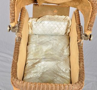 Wicker Baby Doll Carriage Hedstrom Union Mfg Co Gardner Mass