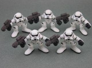 Lot 5 x Star Wars Galactic Heroes Imperial Stormtrooper Trooper