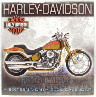 2008 Harley Davidson Vintage Motor Cycles Wall Calendar