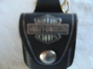 Harley Davidson Black Leather Zippo Lighter Case