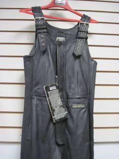 Hein Gericke Leather Bib Pants Black Mens 30 Long Life