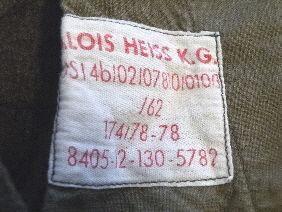Vintage Mens Alois Heiss K G Military Army Field Pants