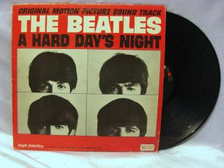 Beatles Hard Days Night Original Motion Picture Soundtrack LP Record