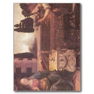 Annunciation Leonardo da Vinci Date  circa 1473 1 Postcards