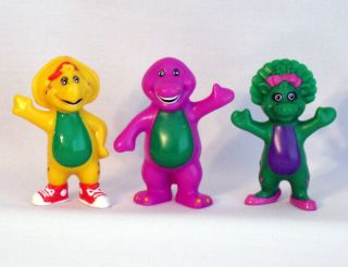 PVC Barney Baby Bop BJ Figures 1996 3 High Toy Hard to Find