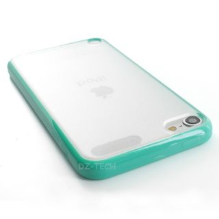 Teal Clear Hard Gel Hybrid TPU Candy Case Cover Apple iPod Touch 5 5g