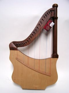 New Unique King Davids Lute Harp w Tuning Tool Blemished