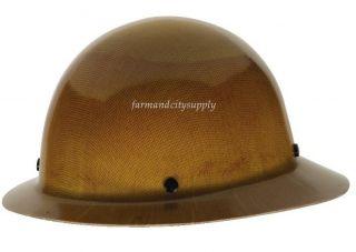 MSA Safety Skullgard 475407 Hard Hat Natural Tan Full Brim Carbon