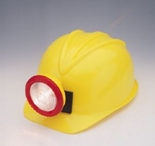 Childrens Yellow Construction Lighted Miner Hard Hat