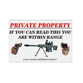 Private Property. Lawn Sign