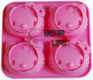 Cute Hello Kitty Shape Bakewere Mold Silicone Cake Mould Soap Maker