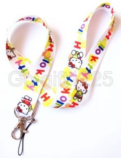 new cartoon hello kitty LANYARD Neck KEYS ID NECK long STRAPS for Cell