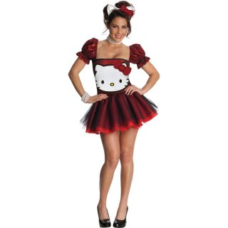 Hello Kitty Red Glitter Dress Adult Costume