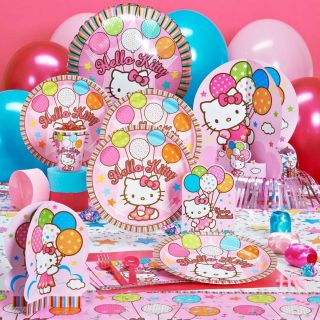 Hello Kitty Party Supplies Decorations Plates Napkins Cups Accessories