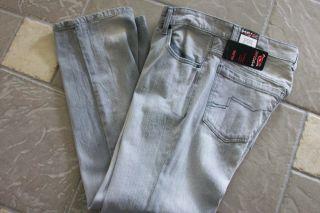 New Tony Hawk Gray Slim Straight Jeans Mens 36x32