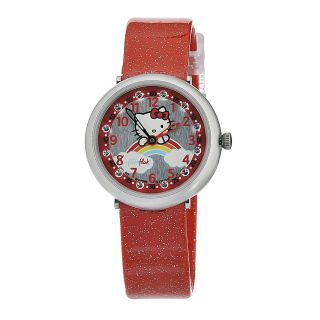 Swatch Kids ZFFL017 Quartz Silver Dial Hello Kitty Watch