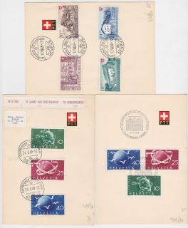 Switzerland Helvetia PTT Cards Stamps with Cat Value $80