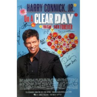 com auction bway harry connick cast signed on a clear day poster