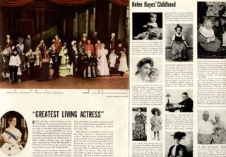 on Greatest Living Actress Helen Hayes in Victoria Regina