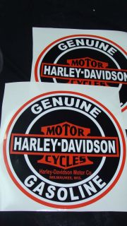 Harley Davidson Decals Motorcycle Ad Stickers Gas Oil
