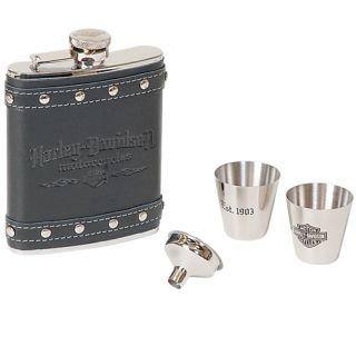 Harley Davidson Motorcycles Flask Gift Set New Item