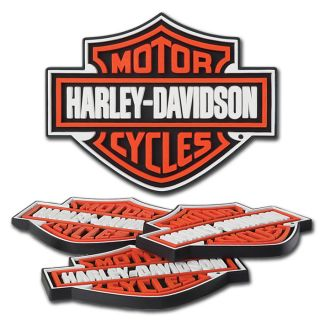 HARLEY DAVIDSON BAR & SHIELD RUBBER COASTER SET   4 PER PKG   NEW