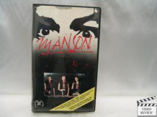 Manson VHS Clam Shell Robert Hendrickson 1984