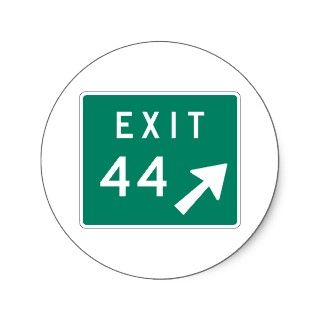 Exit 44 Street Sign Stickers