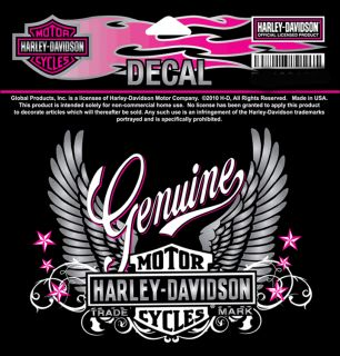 Harley Davidson Ladies Decal.Decal size 4.75 inch.~