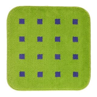 Bathmat Rug Bathroom Bath Green Blue Square Modern Mat Latex Backing