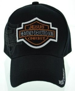 HEAVENLY DEVOTED SON JESUS CHRIST HARLEY DAVIDSON BALL CAP HAT BLACK