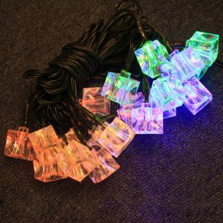 Colorful 20 LED 2M Fairy Party Christmas Solar String Light Lamp Ice