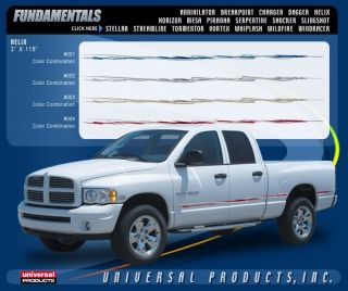 Helix Vinyl Graphic Decals Stripes Universal Fit Chevy GMC Dodge RAM