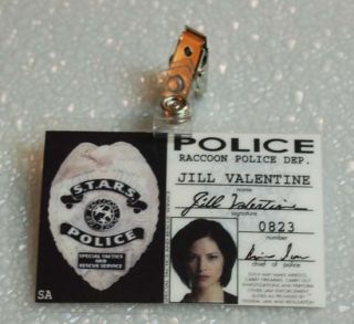 Resident Evil ID Badge Raccoon Police Jill Valentine