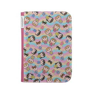 Cute Dolls Vector Pattern Kindle Case