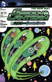 Fred Hembeck Color Illo on Green Lantern 13 Blank Cover Variant 2012 4