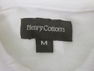 Lot 2 Henry Cottons Mens Orange White Polo Shirt Sz M